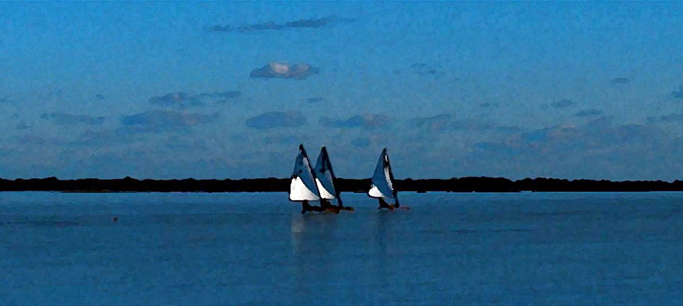 Ice Boats, Hallock's Bay