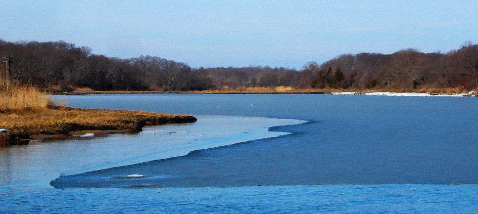 Ice on Narrow River